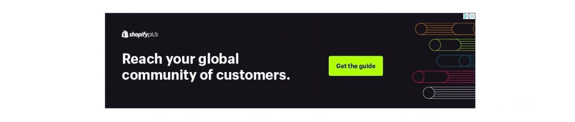 Shopify remarketing ad for their ecommerce guide