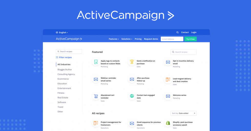 ActiveCampaign Marketing Automation Dashboard