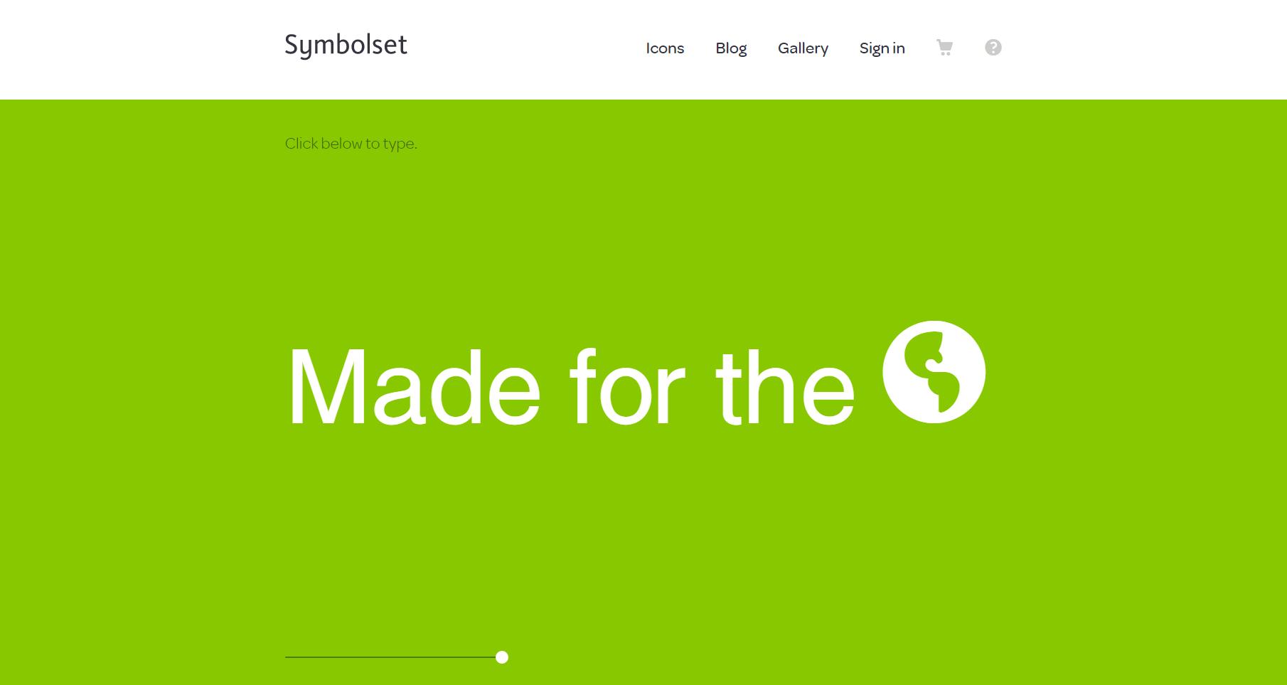 symbolset minimalist web design with color