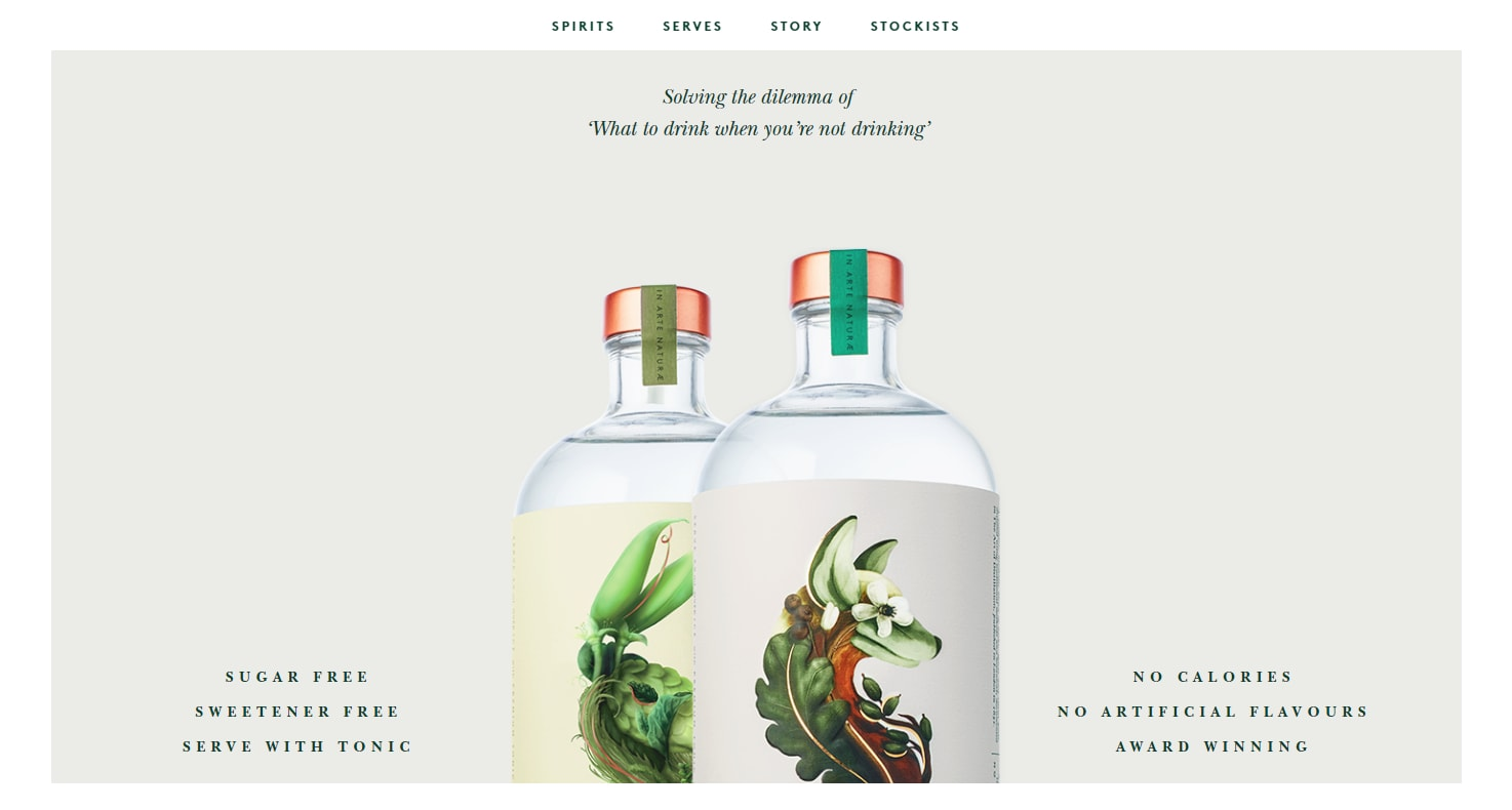 balanced minimalist web design with product photos