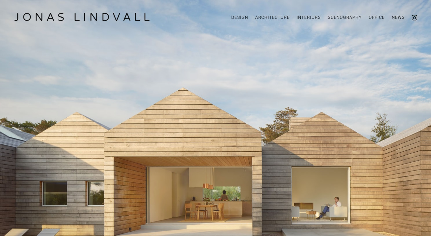 minimalist web design with photography