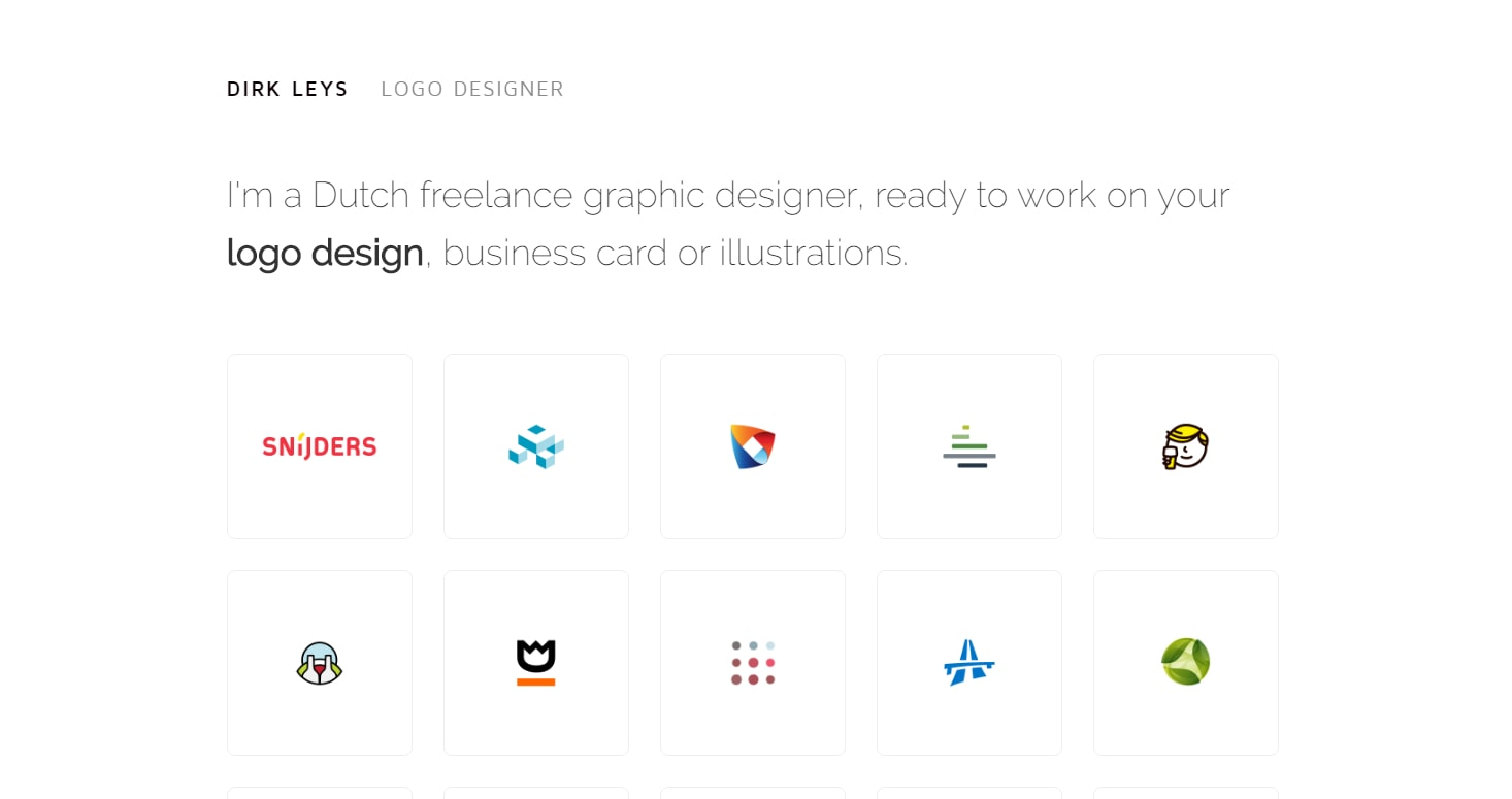 minimalist web design with icons