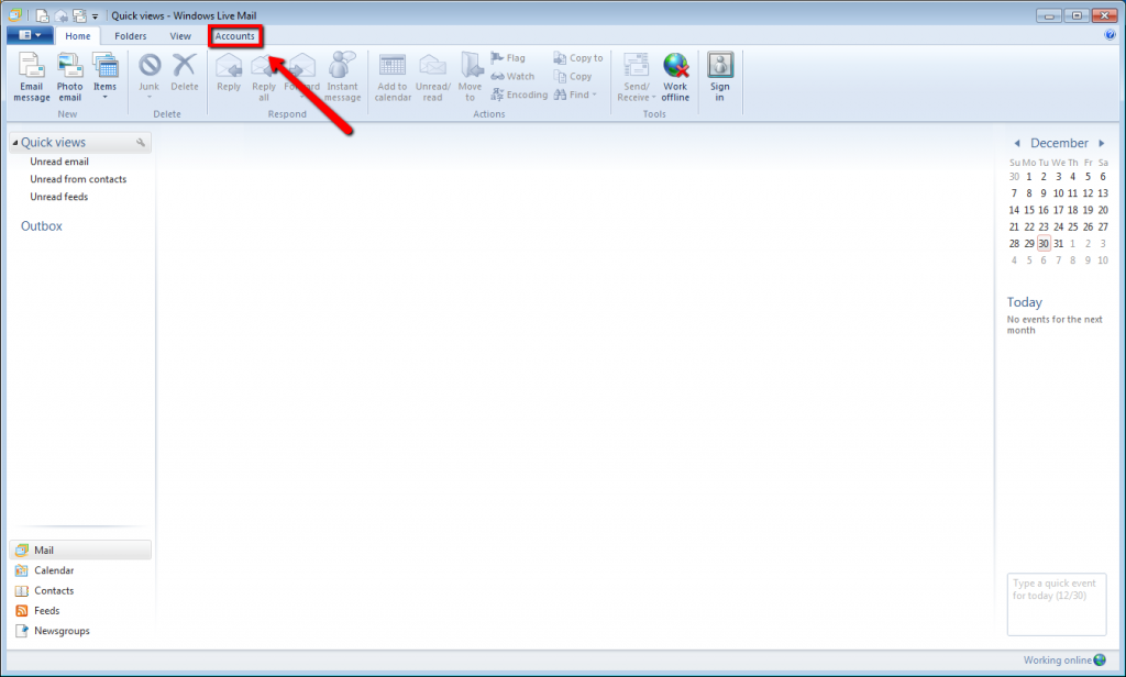 Email Account Setup: Windows Live Mail