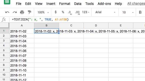 textjoin in excel for dates