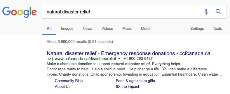 google-adwords-search-ad-non-profit